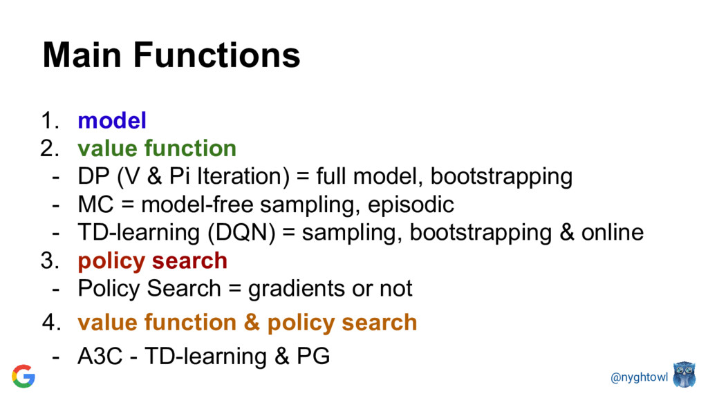 @nyghtowl Main Functions 1. model 2. value func...