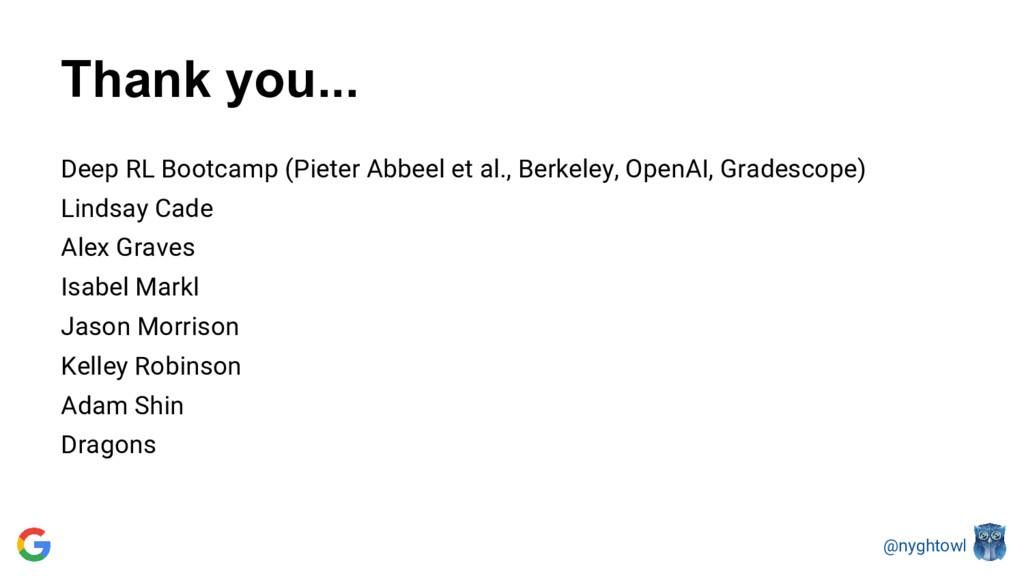 @nyghtowl Thank you... Deep RL Bootcamp (Pieter...