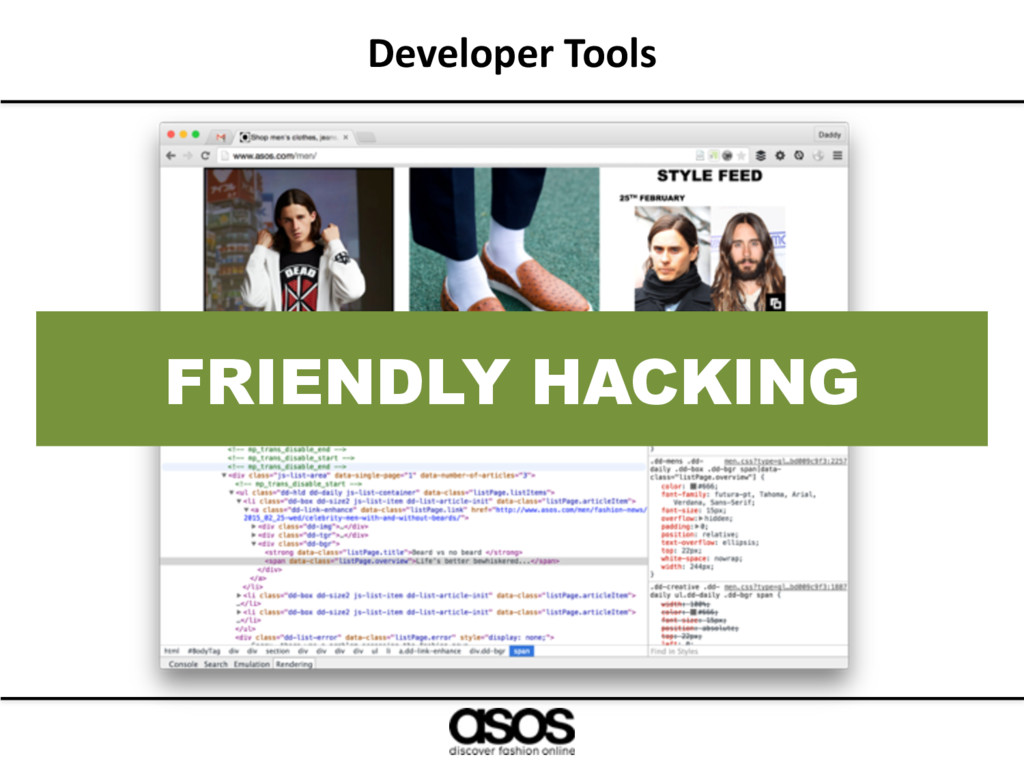 Developer Tools FRIENDLY HACKING