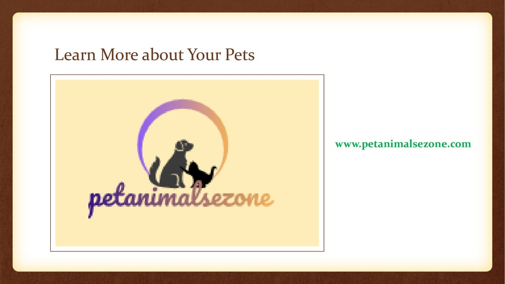 Learn More about Your Pets www.petanimalsezone....