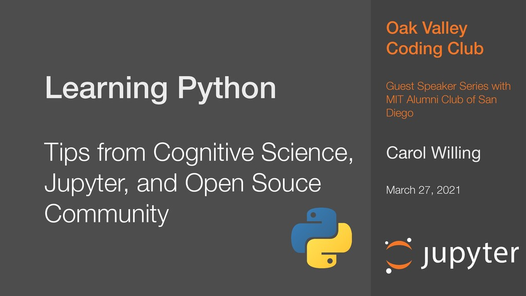 Learning Python   Tips from Cognitive Science...
