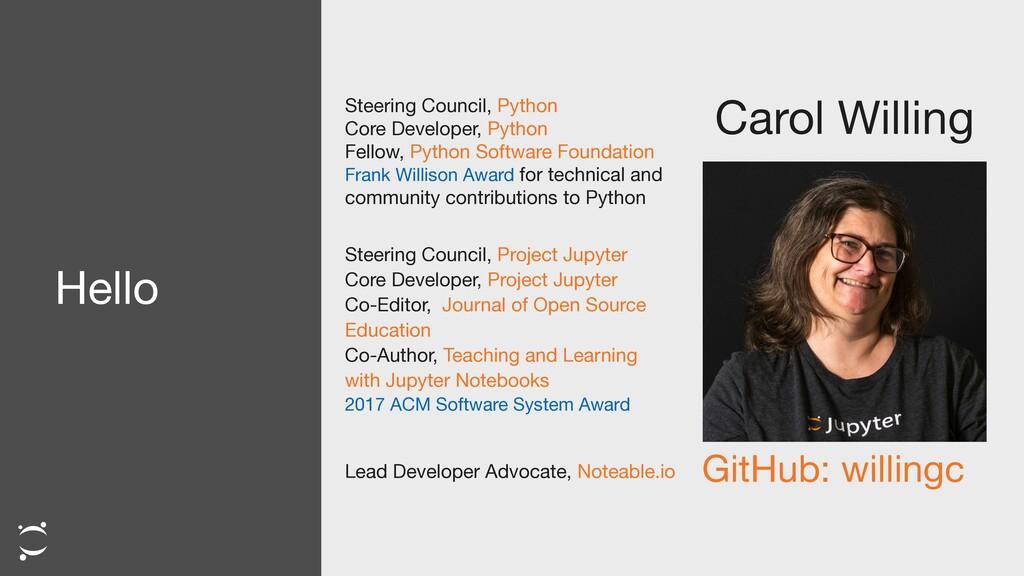 Hello Steering Council, Python  Core Developer,...