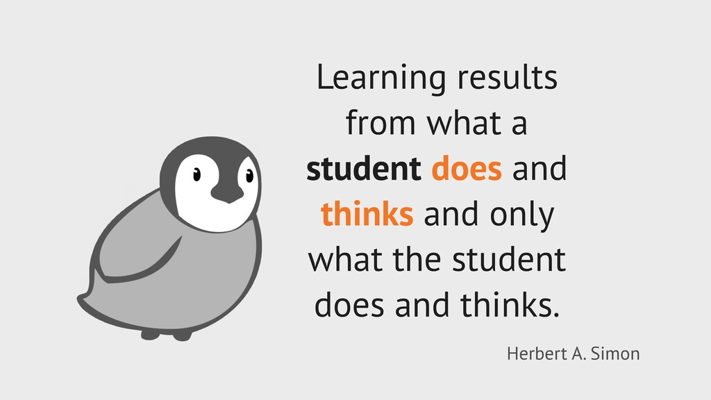 Learning results from what a student does and t...
