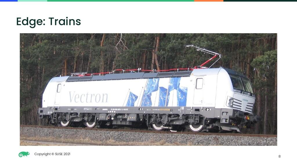 Copyright © SUSE 2021 8 Edge: Trains