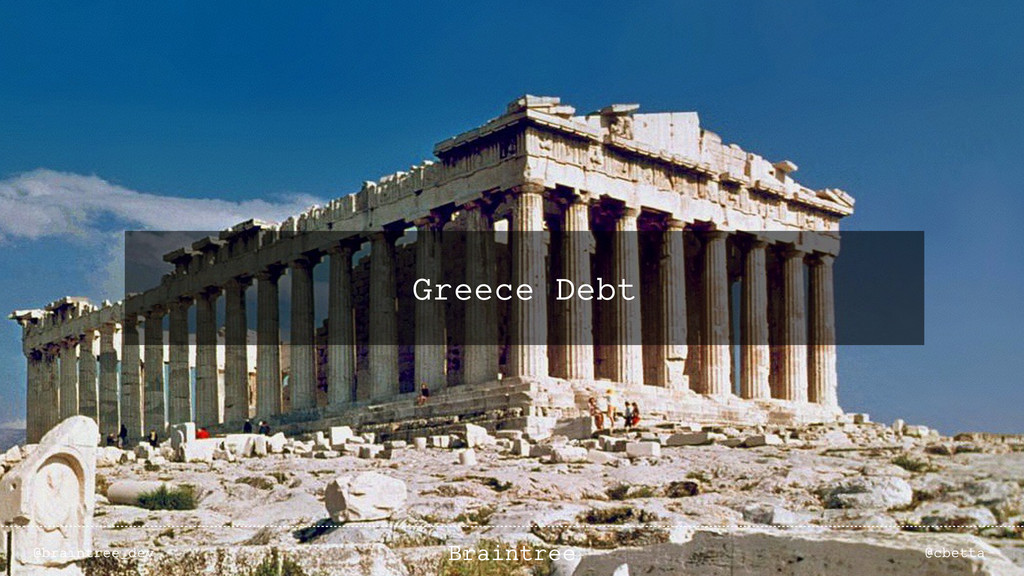 Greece Debt @braintree_dev @cbetta Braintree