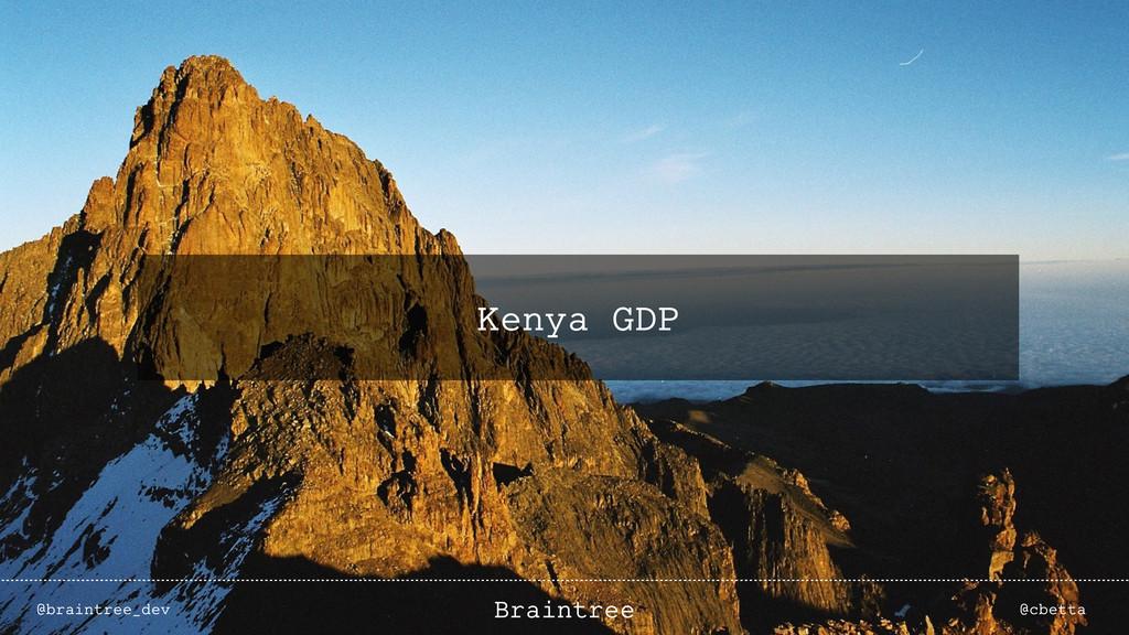 Kenya GDP @braintree_dev @cbetta Braintree