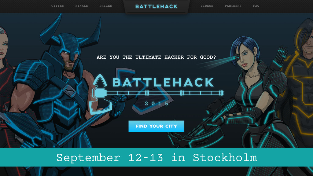 September 12-13 in Stockholm