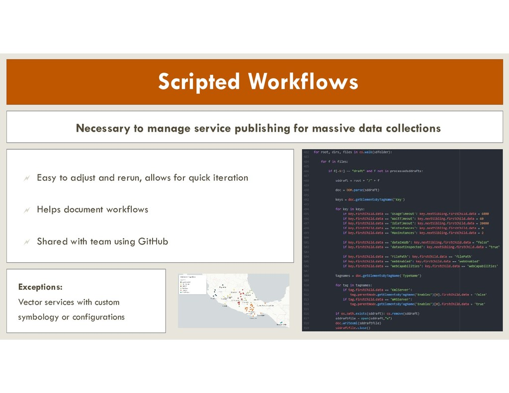 Scripted Workflows Necessary to manage service ...