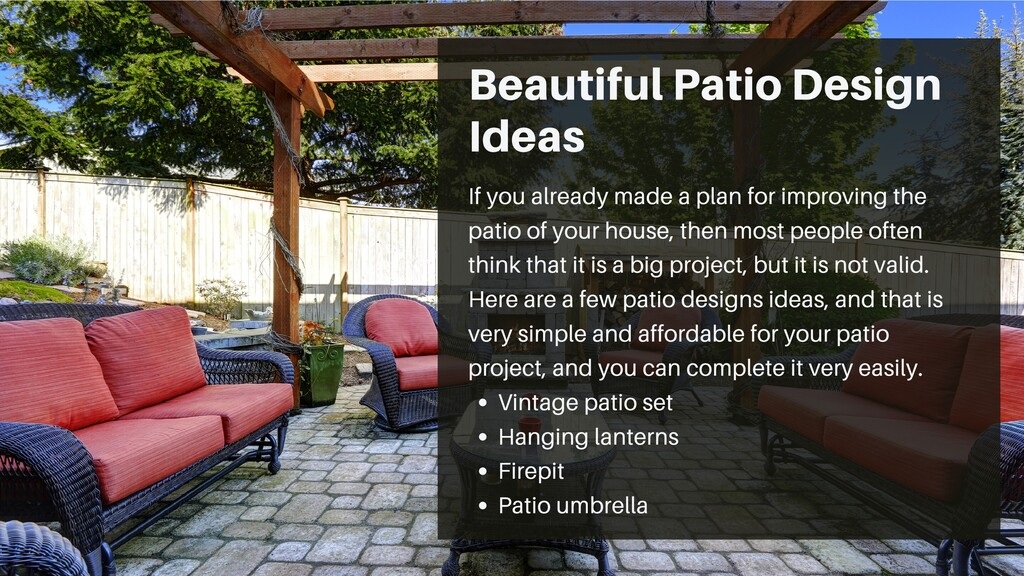 Beautiful Patio Design Ideas Vintage patio set ...