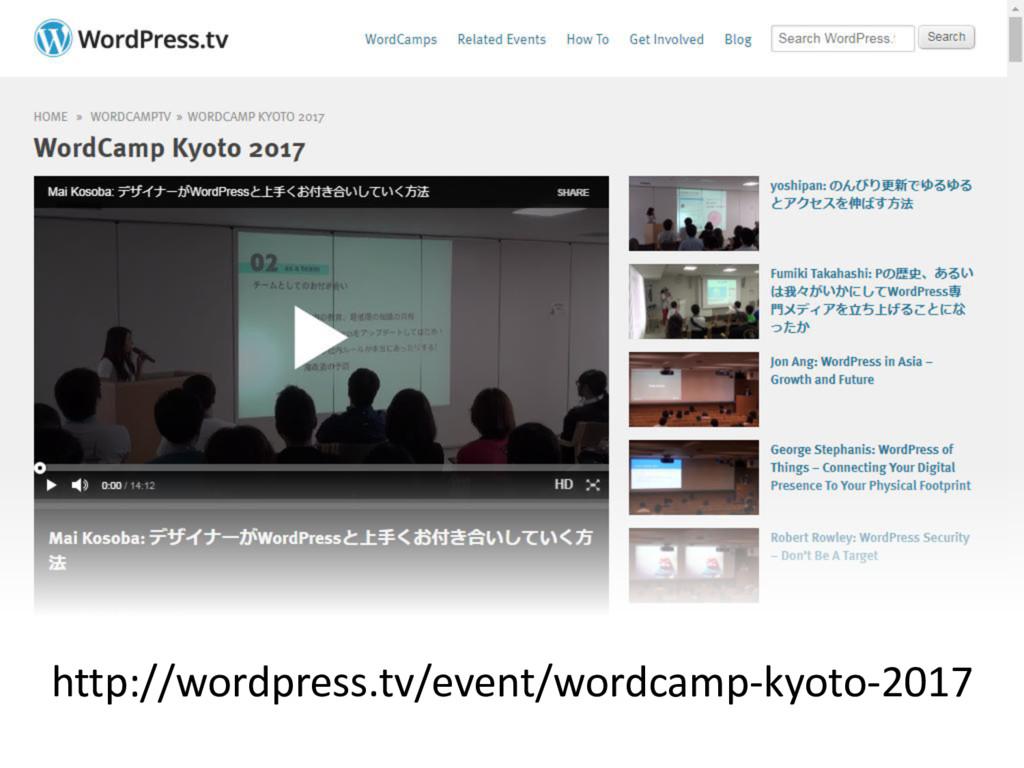 http://wordpress.tv/event/wordcamp-kyoto-2017