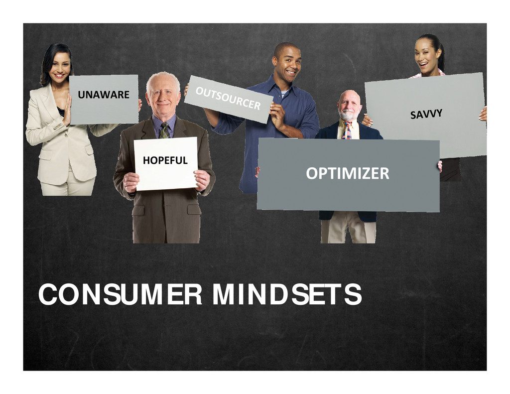 UNAWARE OUTSOURCER HOPEFUL SAVVY OPTIMIZER CONS...