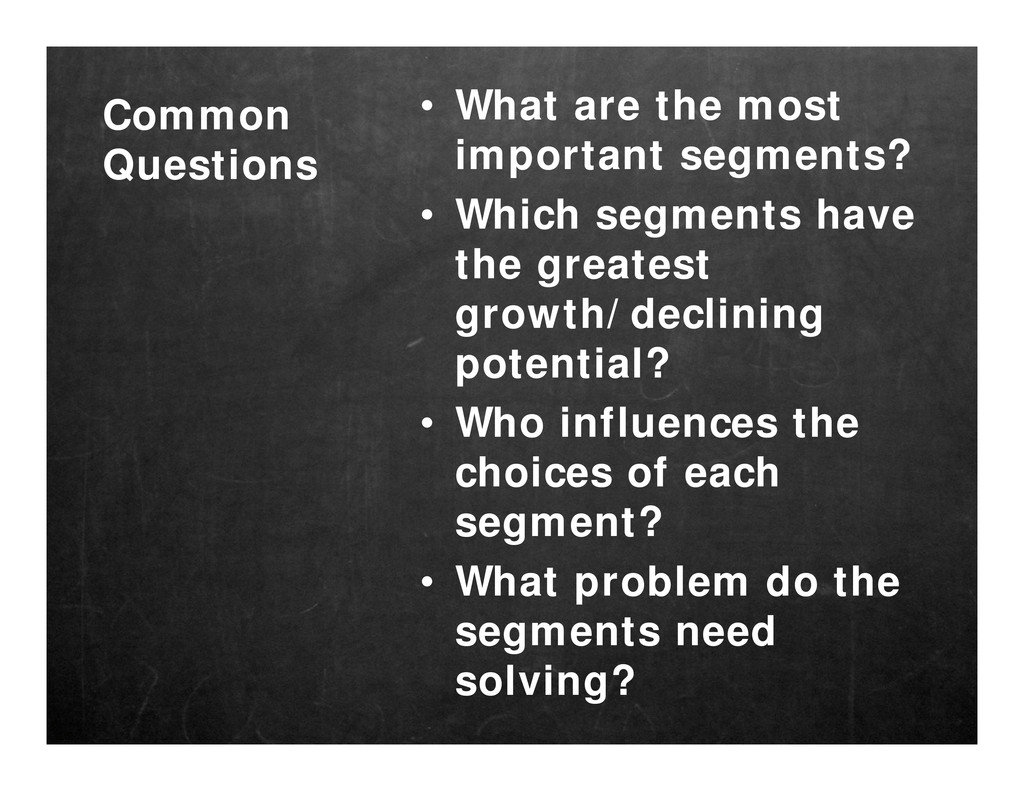 Common Questions • What are the most important ...