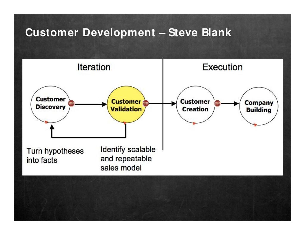 Customer Development – Steve Blank