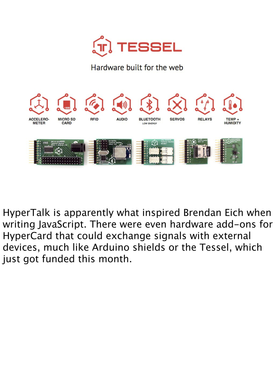 HyperTalk is apparently what inspired Brendan E...