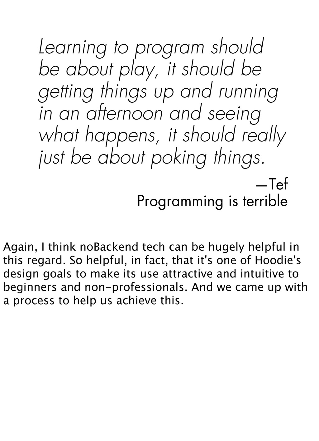 Learning to program should be about play, it sh...
