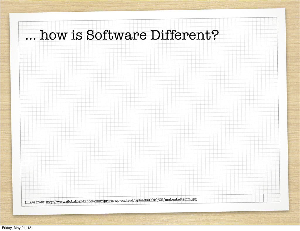 ... how is Software Different? Image from: http...