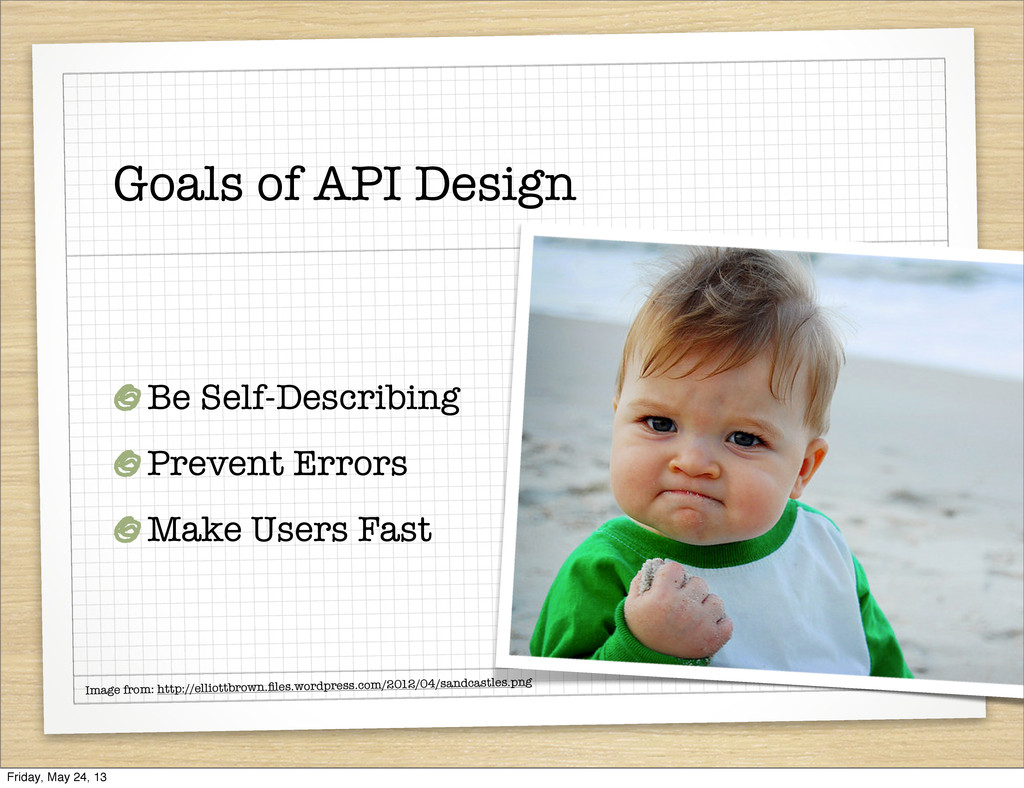 Goals of API Design Be Self-Describing Prevent ...