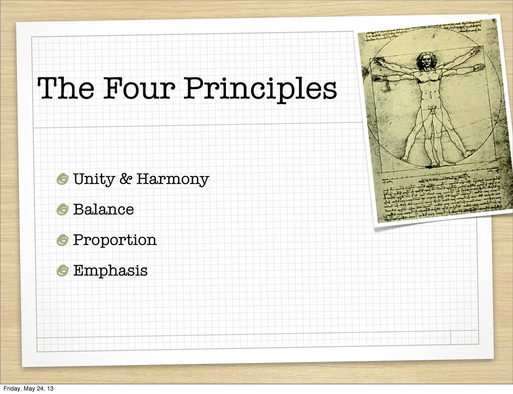 The Four Principles Unity & Harmony Balance Pro...