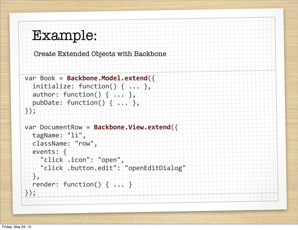 Example: Create Extended Objects with Backbone ...