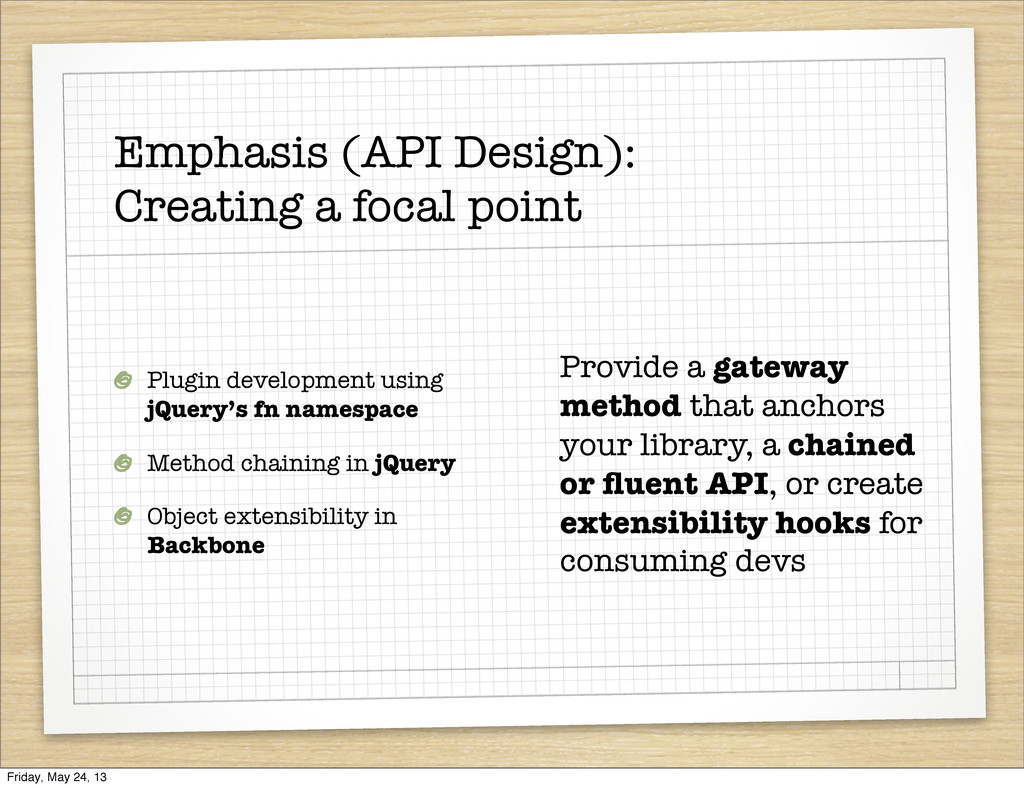 Emphasis (API Design): Creating a focal point P...