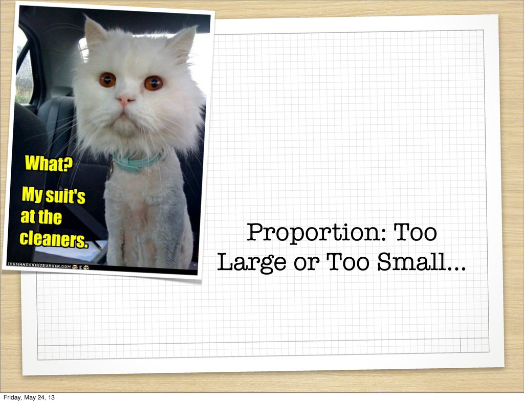 Proportion: Too Large or Too Small... Friday, M...