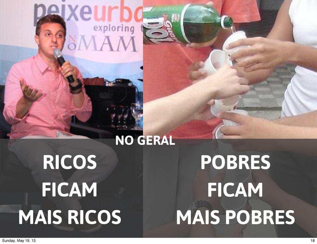 RICOS FICAM MAIS RICOS POBRES FICAM MAIS POBRES...