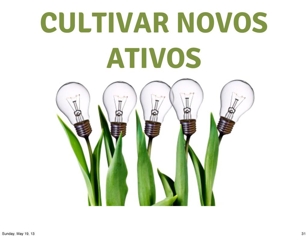 CULTIVAR NOVOS ATIVOS 31 Sunday, May 19, 13