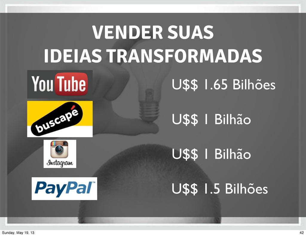 VENDER SUAS IDEIAS TRANSFORMADAS U$$ 1.5 Bilhõe...