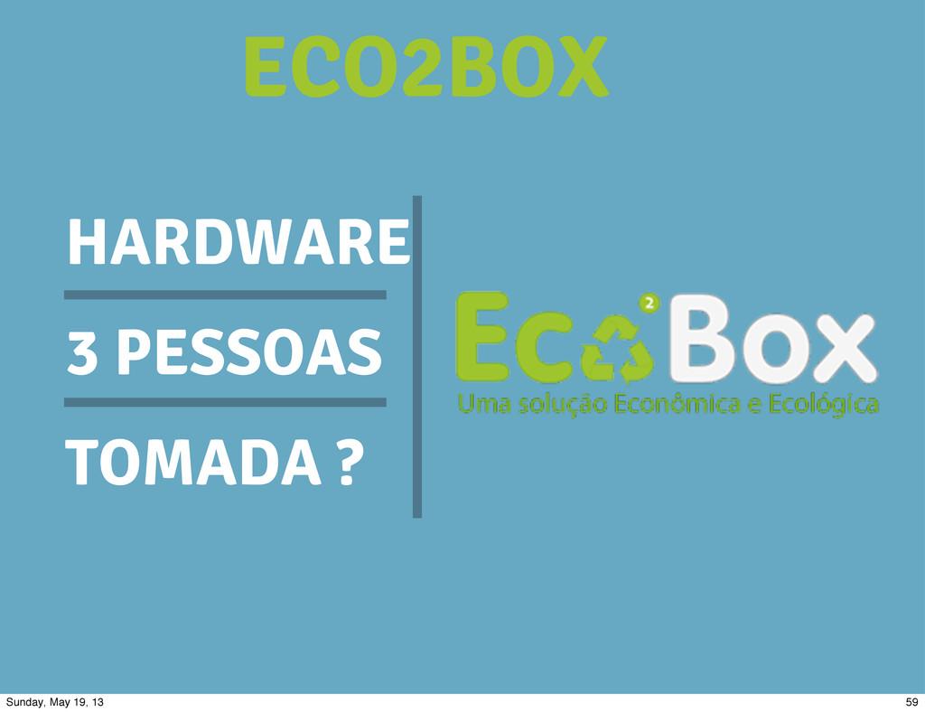 HARDWARE 3 PESSOAS TOMADA ? ECO2BOX 59 Sunday, ...
