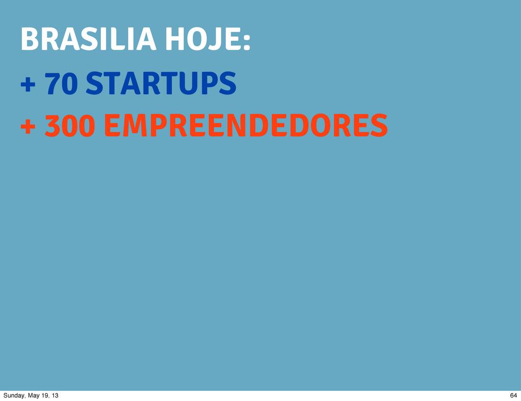 + 70 STARTUPS + 300 EMPREENDEDORES BRASILIA HOJ...