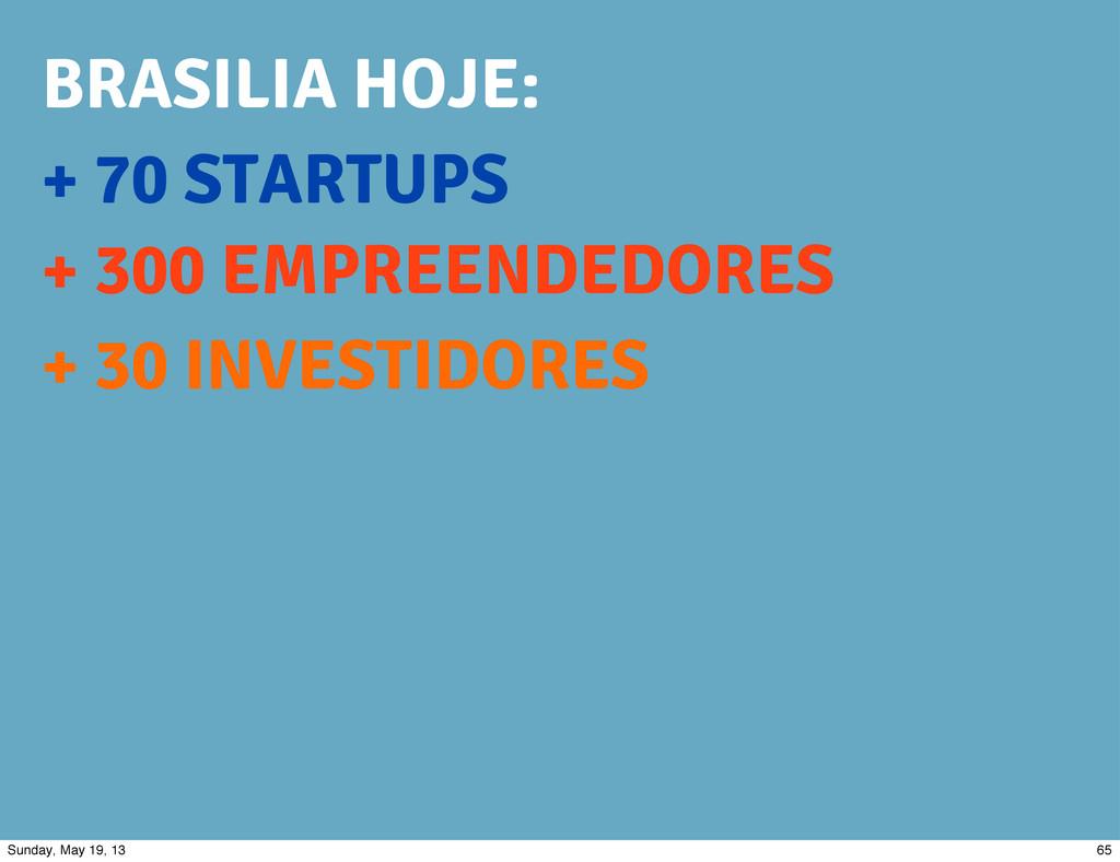 + 70 STARTUPS + 300 EMPREENDEDORES + 30 INVESTI...