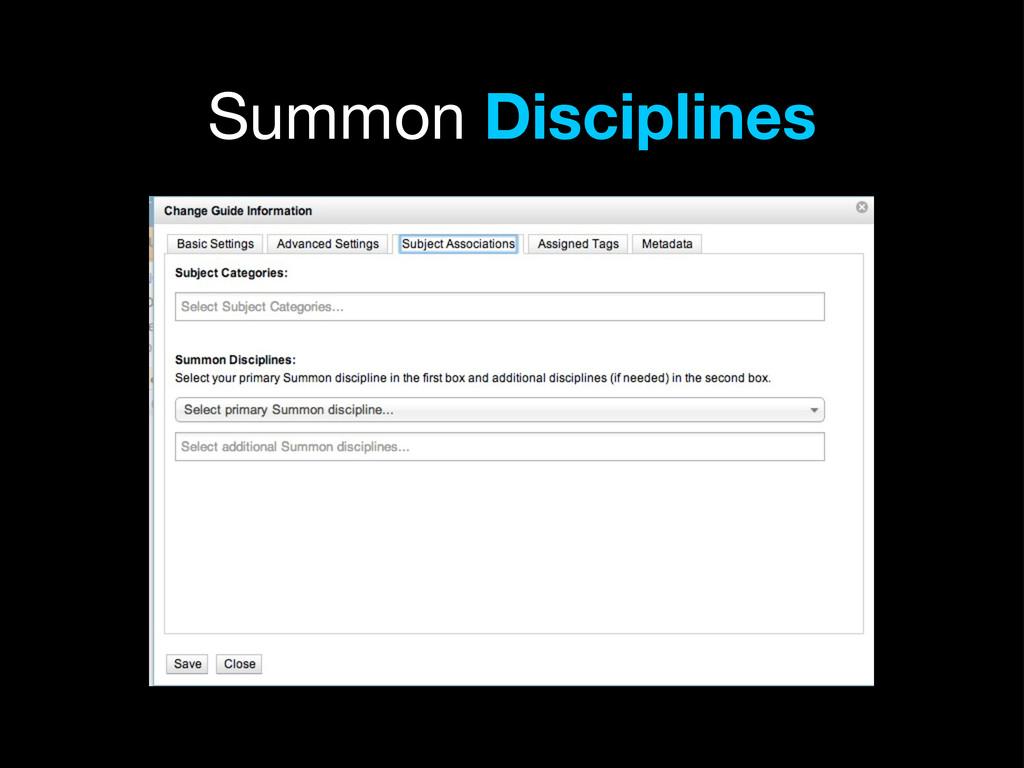 Summon Disciplines