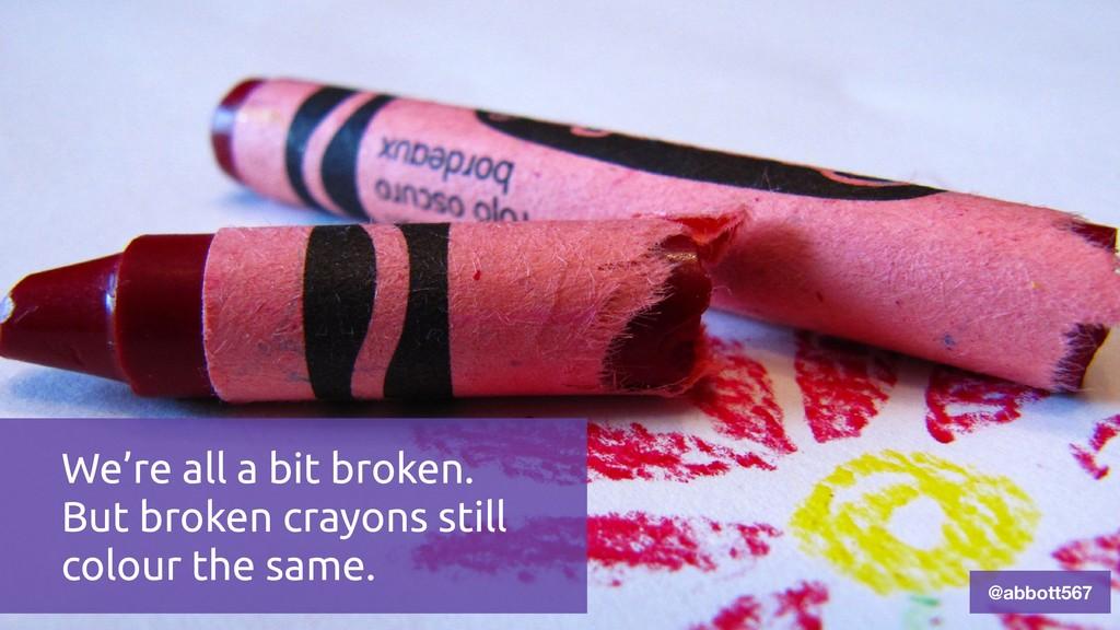 @abbott567 We're all a bit broken. But broken c...