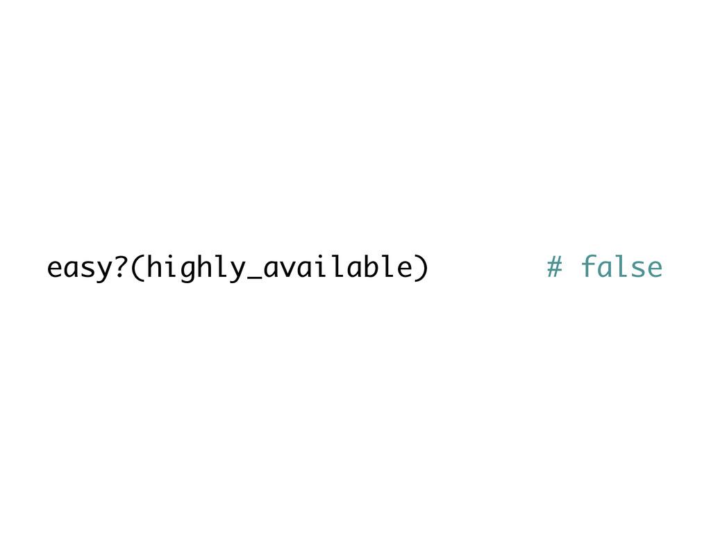 easy?(highly_available) # false