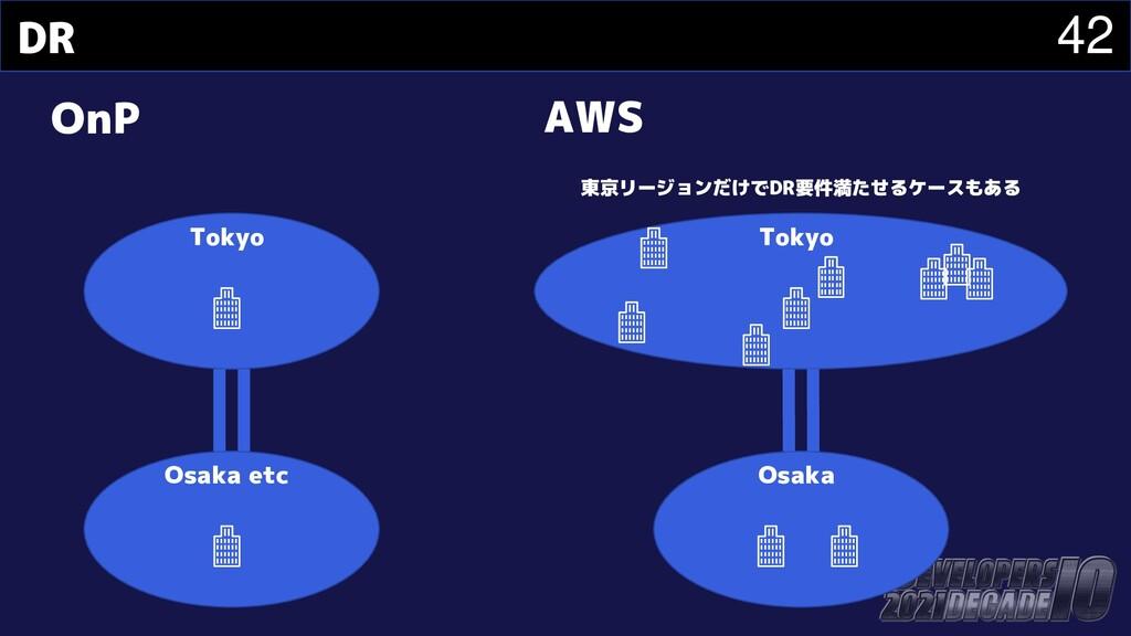 42 DR OnP AWS Tokyo Osaka etc Tokyo Osaka 東京リージ...