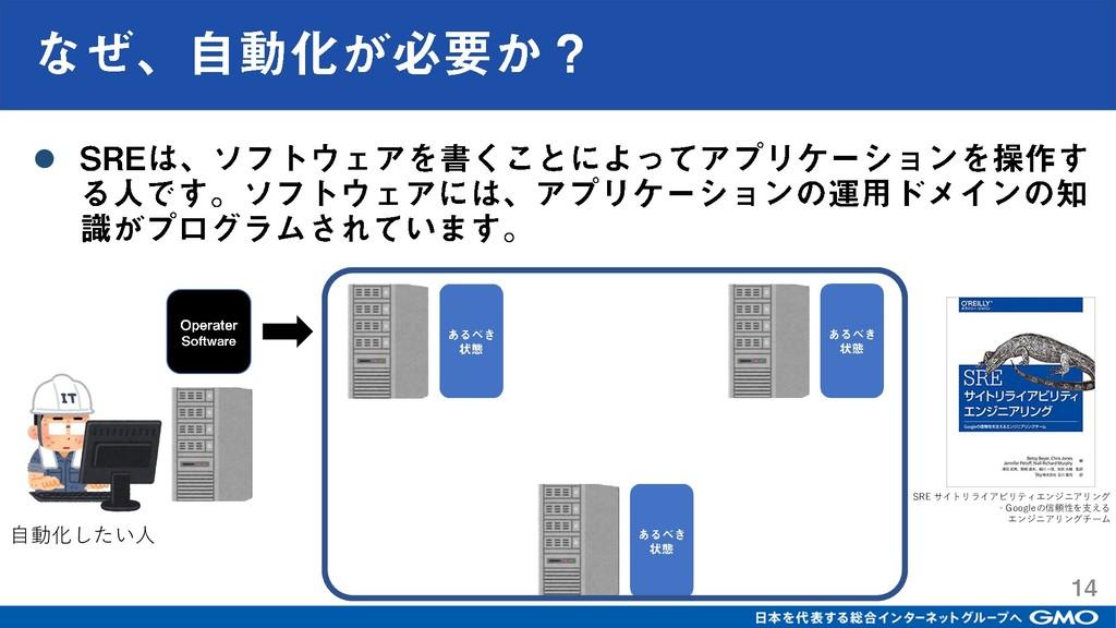 ⚫ 自動化したい人 SRE サイトリライアビリティエンジニアリング ‐Googleの信頼性を支...