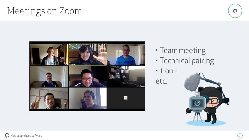 How people build software ! Meetings on Zoom 23...