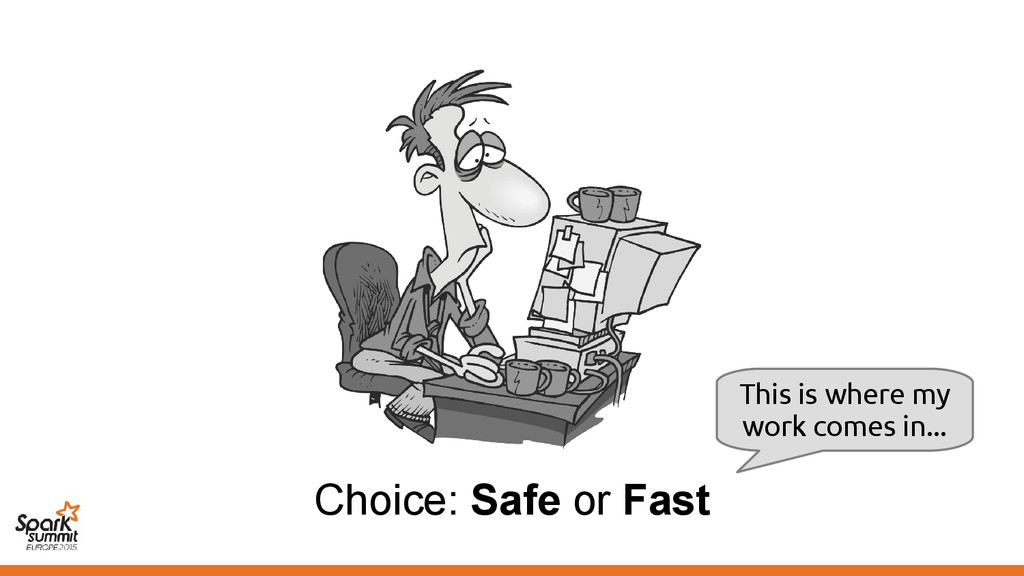 Choice: Safe or Fast This is where my work come...
