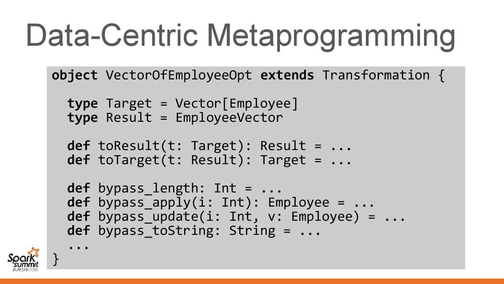 Data-Centric Metaprogramming object VectorOfEmp...