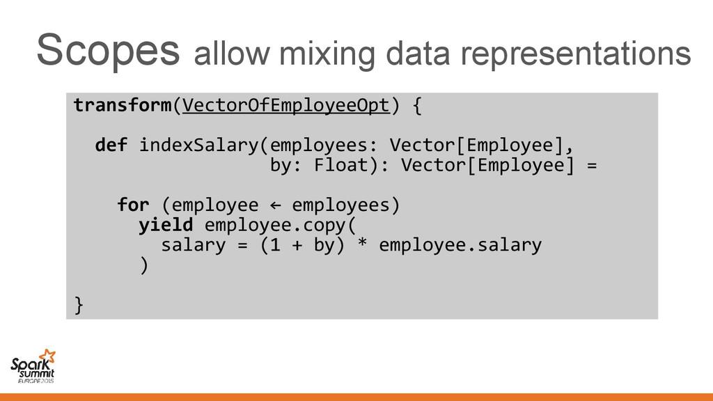 Scopes allow mixing data representations transf...