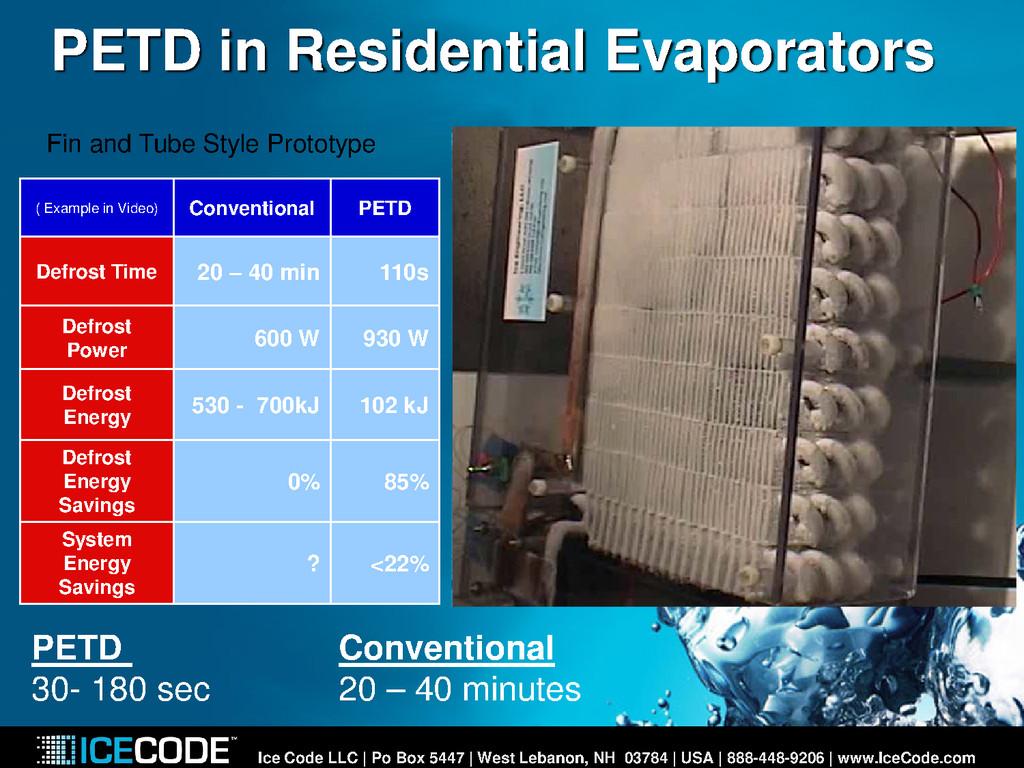PETD in Residential Evaporators Ice Code LLC | ...