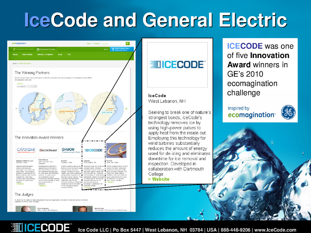 IceCode and General Electric Ice Code LLC | Po ...