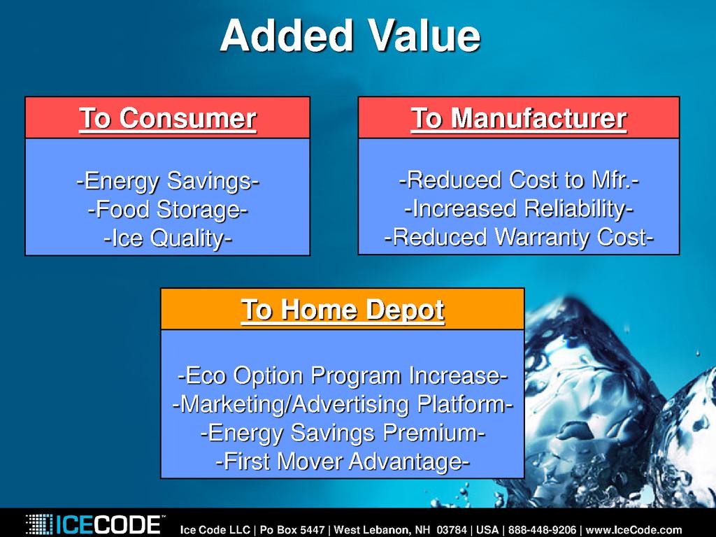 Added Value Ice Code LLC | Po Box 5447 | West L...