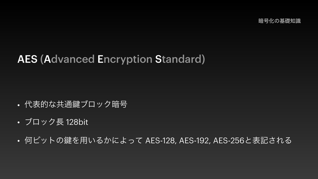 ҉߸Խͷجૅࣝ AES (Advanced Encryption Standard) • ...