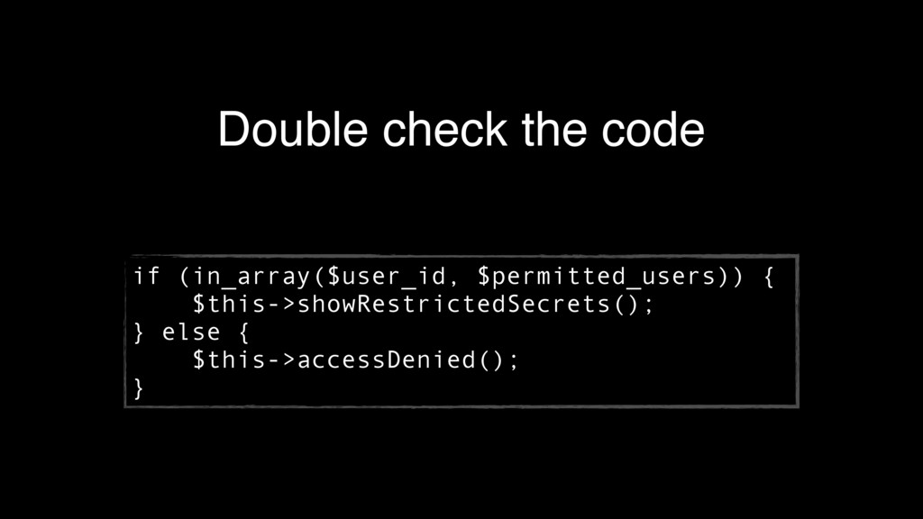 Double check the code if (in_array($user_id, $p...