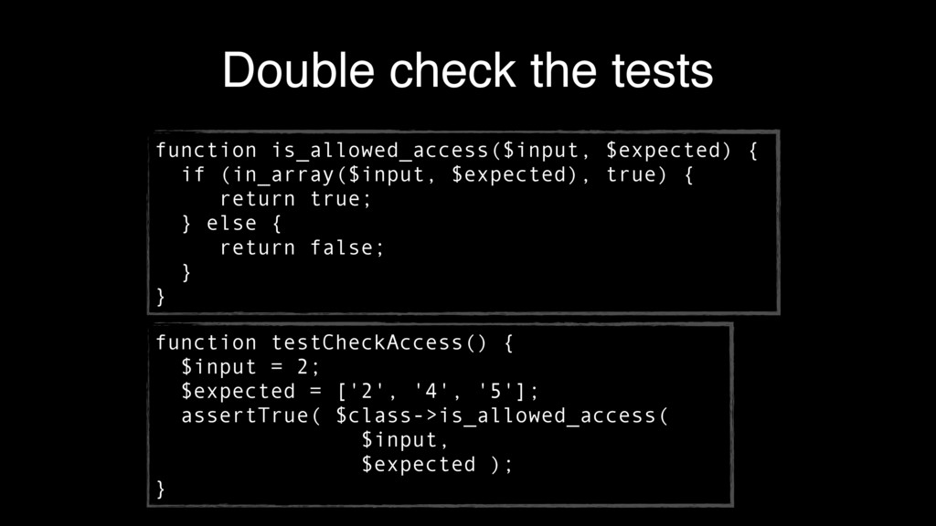 Double check the tests function is_allowed_acce...