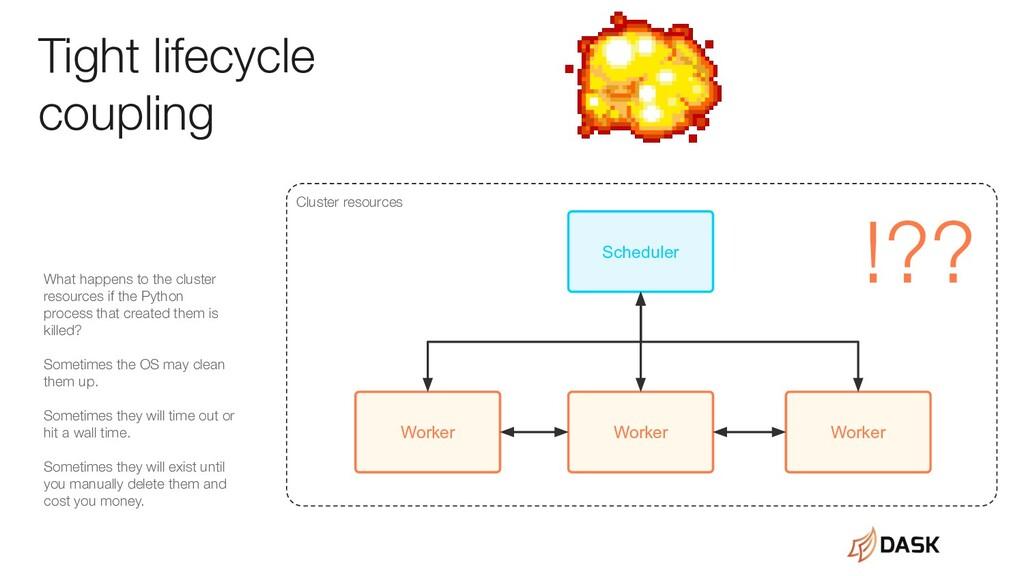 Worker Worker Worker Scheduler Tight lifecycle ...