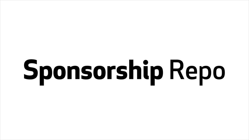Sponsorship Repo