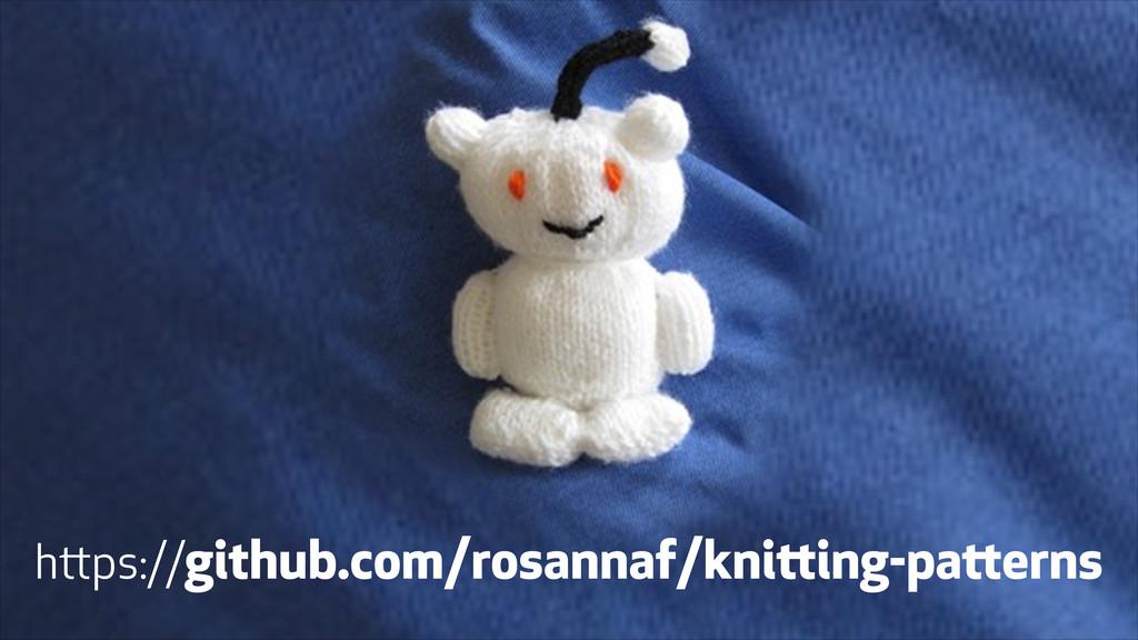 https://github.com/rosannaf/knitting-patterns