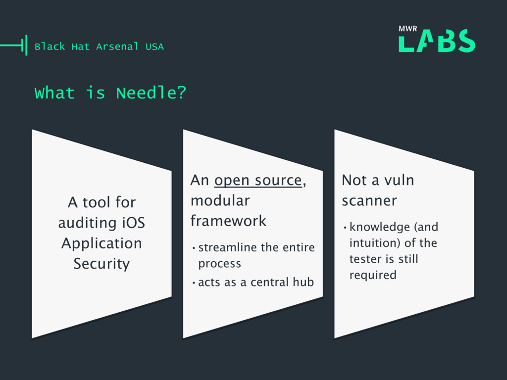 What is Needle? Black Hat Arsenal USA A tool fo...